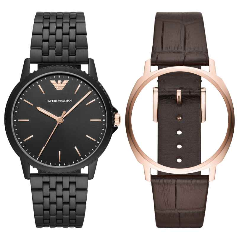 Emporio Armani AR80021 Uhrenset für Herren 4013496069723