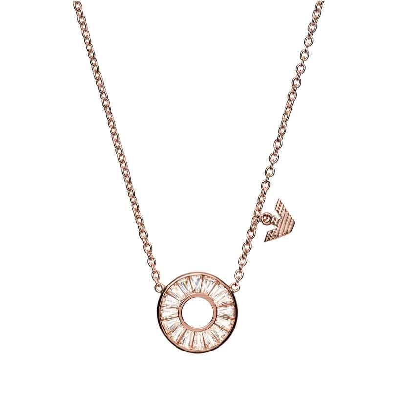 Emporio Armani EG3457221 Damen-Kette Kreis Silber roségold 4048803184790