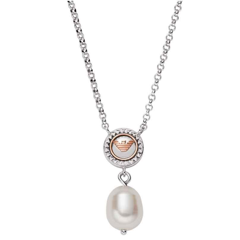 Emporio Armani EG3467040 Damen-Halskette Essential Silber 4064092017427