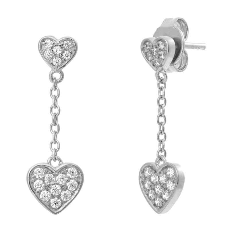 Julie Julsen JJFER0397.1 Silber-Ohrringe für Damen Herz Ohrhänger 9120073589279