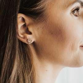Julie Julsen JJDER0778.3 Ohrringe Dancing Stone Ohrstecker Herz mit Zirkonia