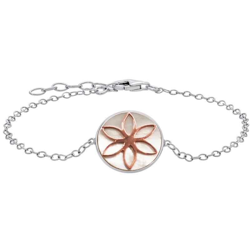 Julie Julsen JJBR0621.8 Bracelet Flower of Life Silver 9120098051782