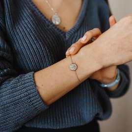 Julie Julsen JJBR0838.1 Silber Damen-Armband Lebensbaum mit Perlmutt