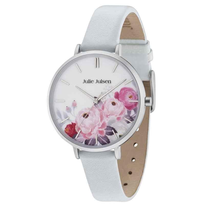 Julie Julsen JJW11SL-4 Damenuhr Flower Silver Light Blue 9120073586711