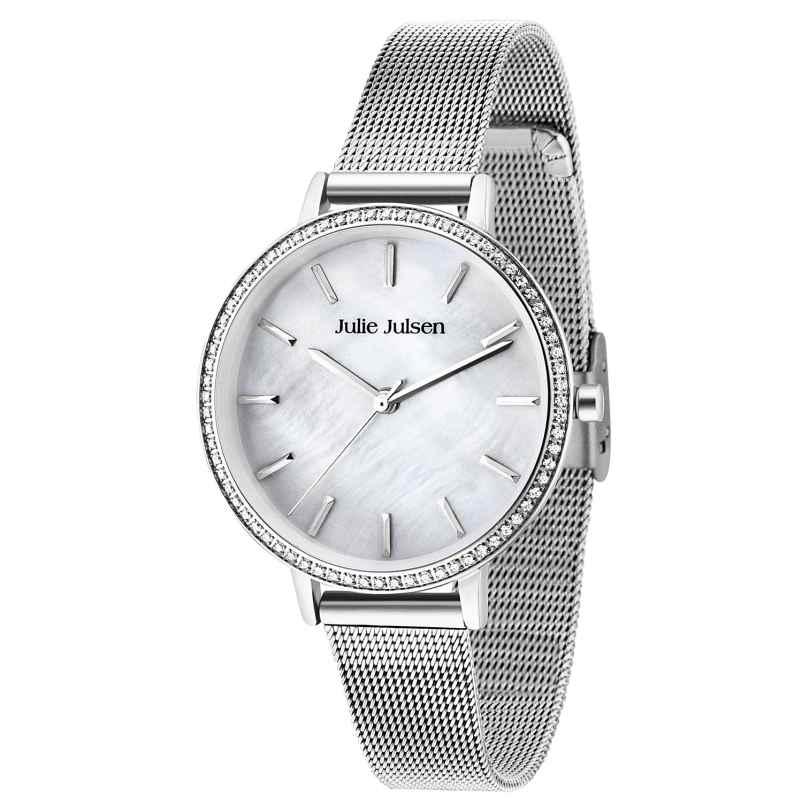 Julie Julsen JJW41SME Ladies' Watch Sparkle Silver Mesh 9120073588173