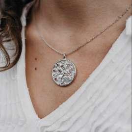 Julie Julsen JJNE0756.8 Women's Necklace Tree of Life Silver