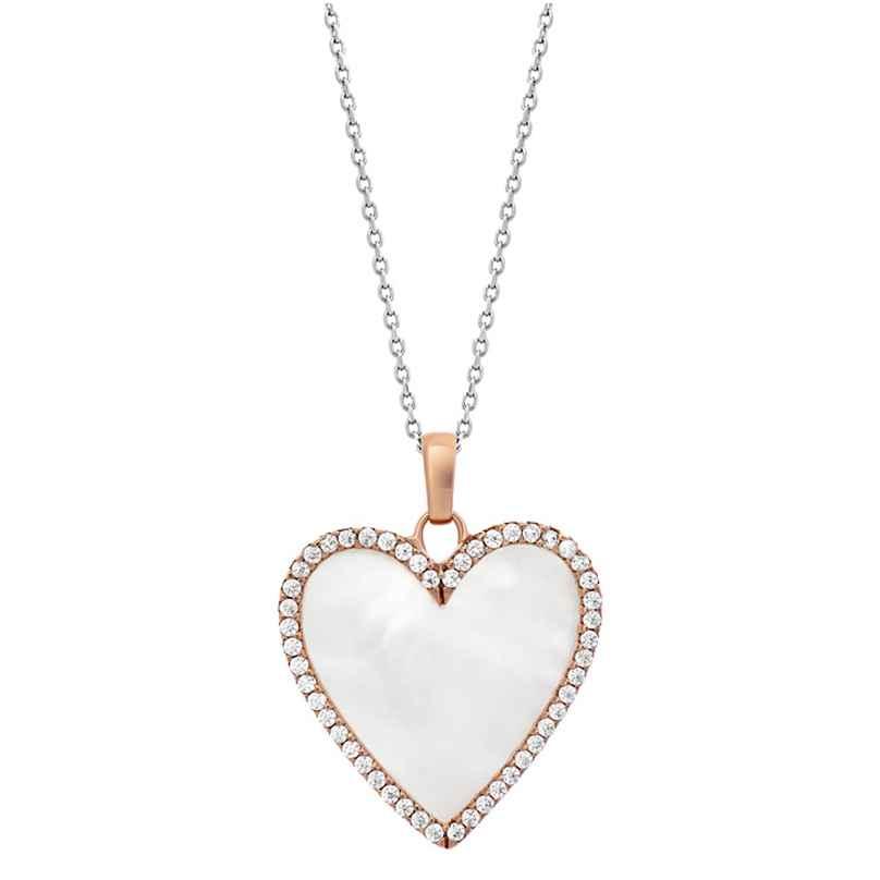 Julie Julsen JJNE0860.8 Damen-Halskette Herz mit Perlmutt Roségoldfarben 9120098059078