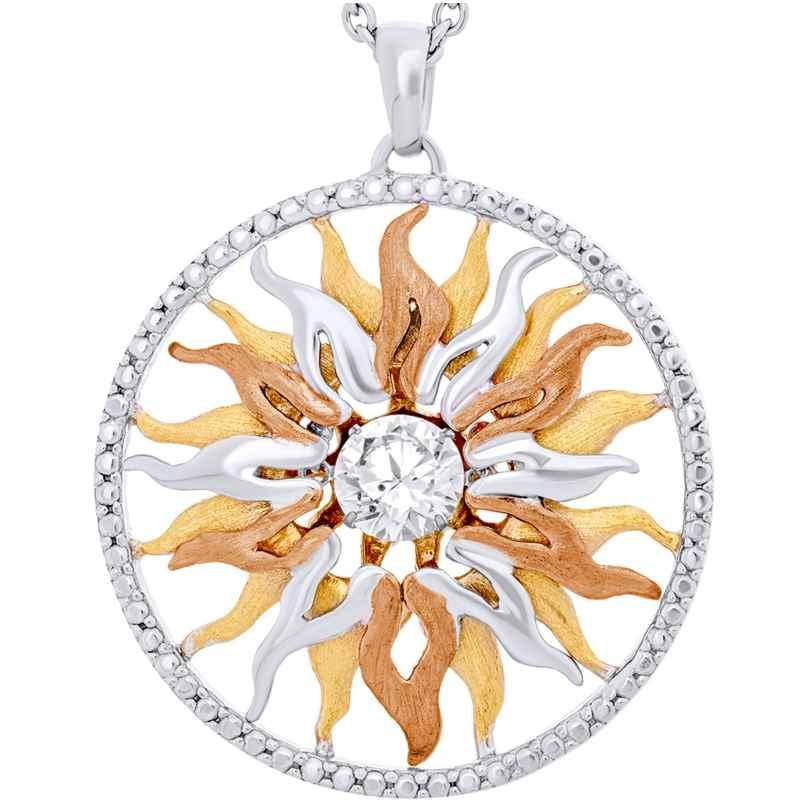 Julie Julsen JJDNE0774.3 Damen-Halskette Dancing Stone Sonne groß 9120098059122