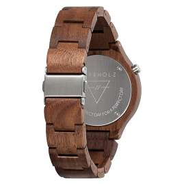 Kerbholz Lamprecht Date Walnut Silver Wood Watch