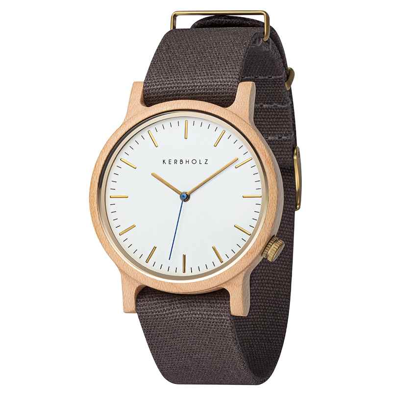 Kerbholz Men's Wristwatch Walter Maple/Dark Grey 4251240407203