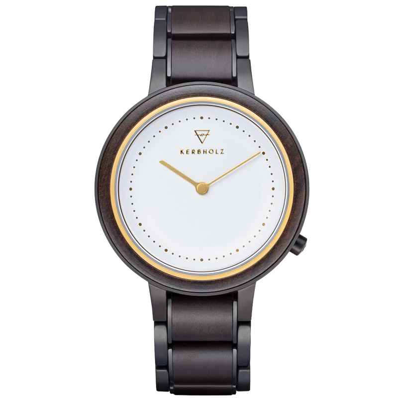 Kerbholz Ladies' Wooden Wristwatch Thea Sandalwood/Gold 4251240414225