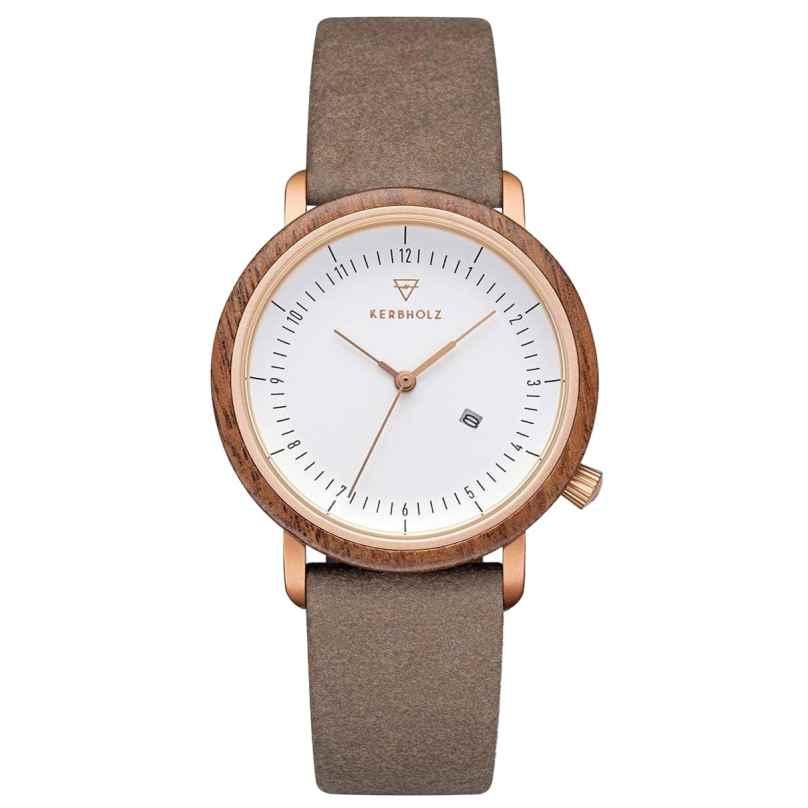 Kerbholz Damen-Armbanduhr Carla Walnuss/Schoko 4251240415628