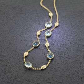 Elaine Firenze 223827C Damen-Collier Gold 585 / 14K Blautopas