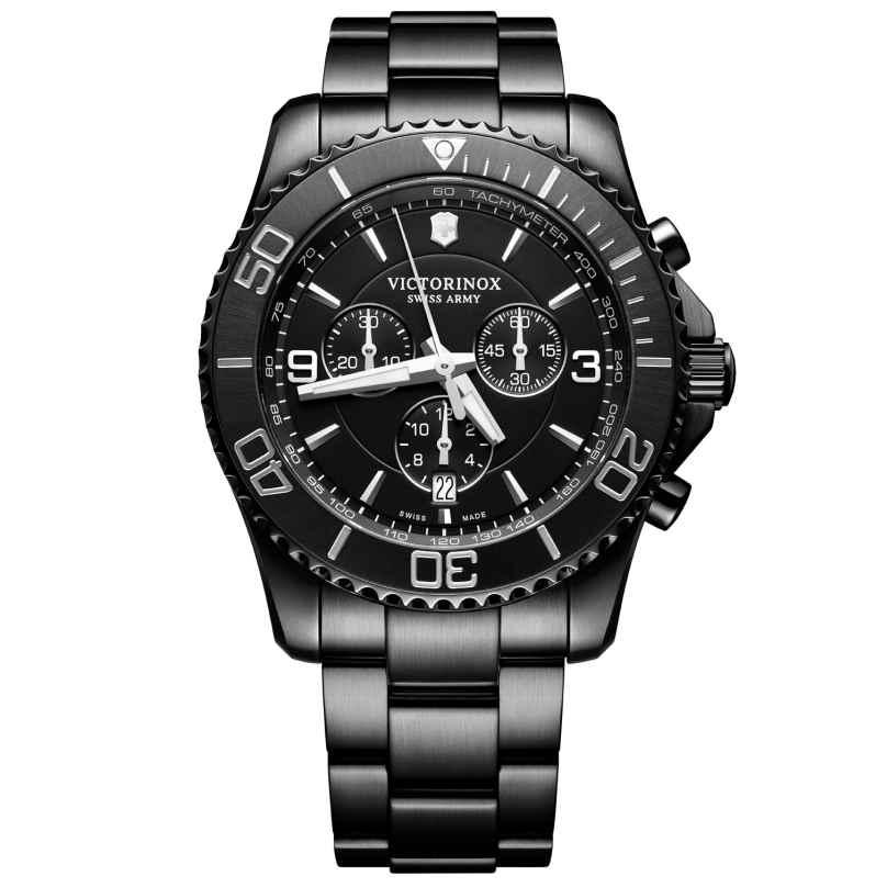 Victorinox 241797 Herren-Armbanduhr Maverick Chrono Black Edition 7630000731678