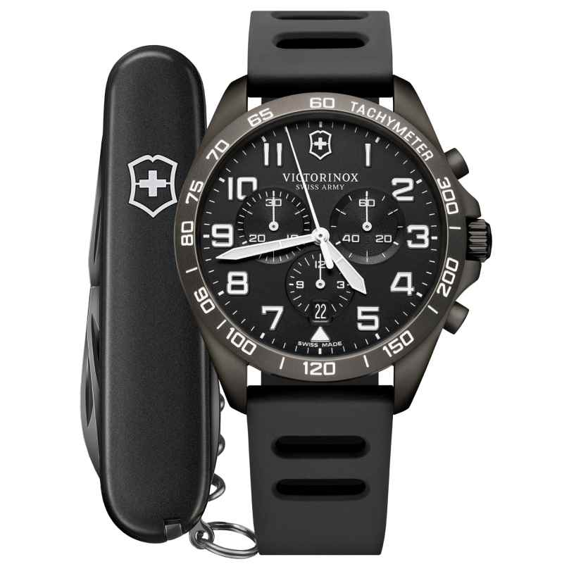 Victorinox 241926.1 Herrenuhr FieldForce Sport Chronograph Grau 7611160166500