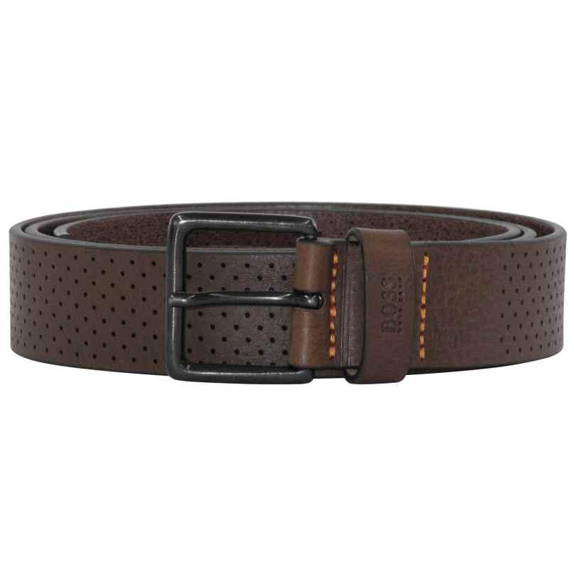 Boss 50385597-202 Mens Belt Jipyo Dark Brown