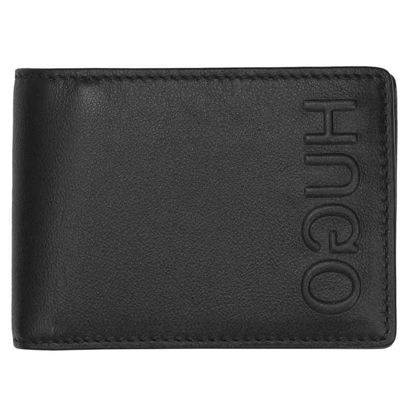 Hugo 50397402-001 Men's Leather Wallet Bolster Black 4029048025635