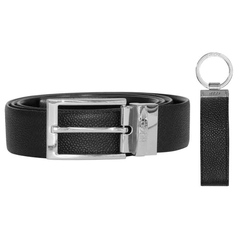 Hugo 50403065 Gift Set Men's Leather Belt Black 4029049346111