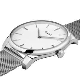 Cluse CW0101212001 Damen-Armbanduhr Féroce Stahl/Weiß