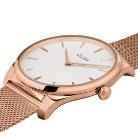 Cluse CW0101212002 Ladies' Wristwatch Féroce Rose Gold/White