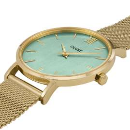 Cluse CW0101203030 Damenuhr Minuit gold / türkis