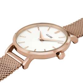 Cluse CW0101211003 Women's Watch La Boheme Petite Mesh rose gold / white