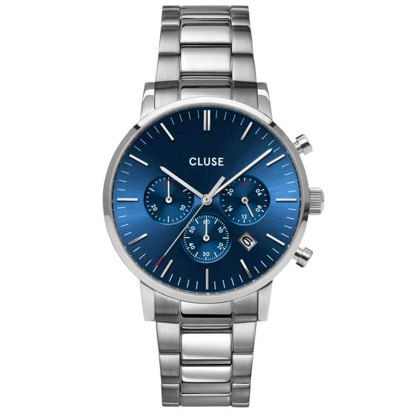 Cluse CW0101502011 Herrenuhr Aravis Chrono Stahl/Blau 8719743376007