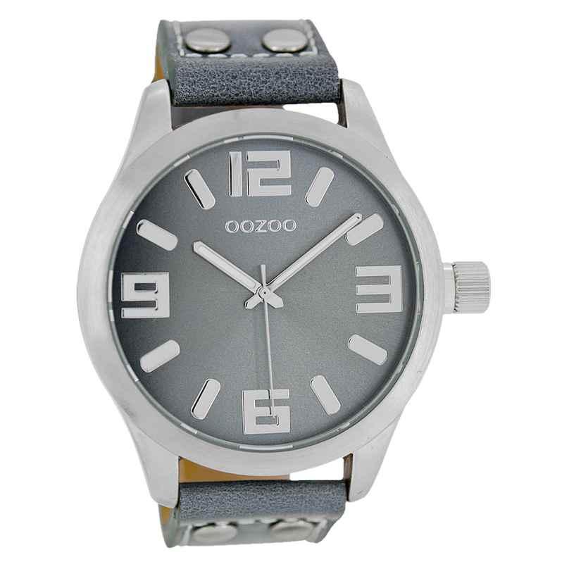 Oozoo C1060 Armbanduhr XL Blaugrau 46 mm 9879012492063