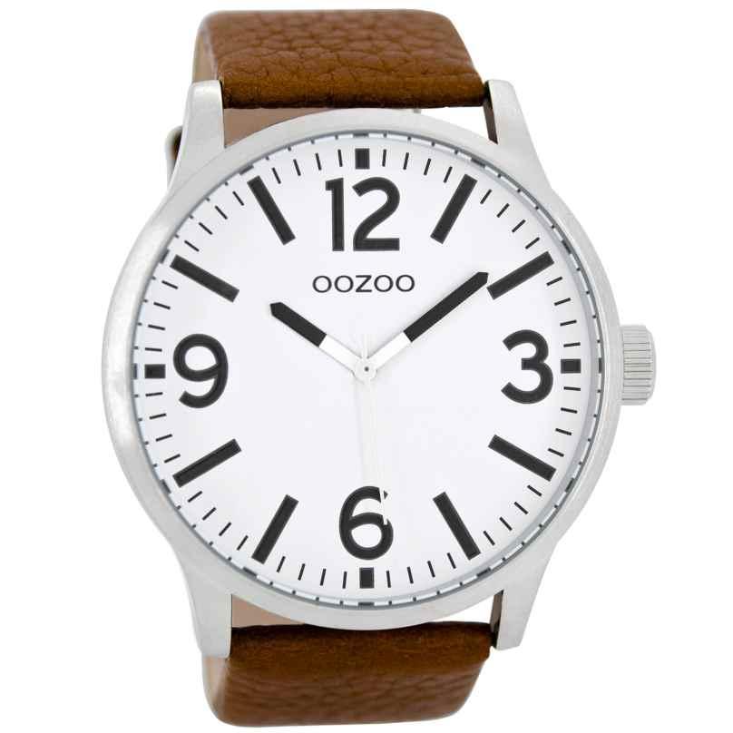 Oozoo C8570 Armbanduhr XL Cognac 50 mm 9879012514055