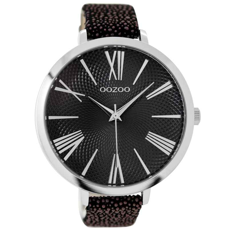 Oozoo C9173 Ladies Watch Black/Brown XXL 48 mm 9879012518787