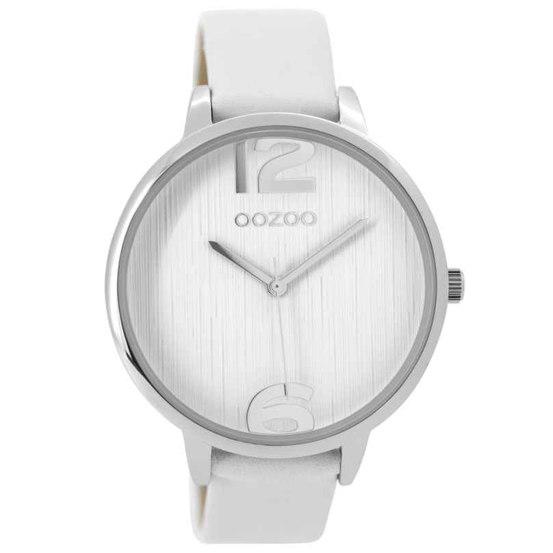 Oozoo C9530 Ladies Watch White / Silver Tone 42 mm 8719929001259