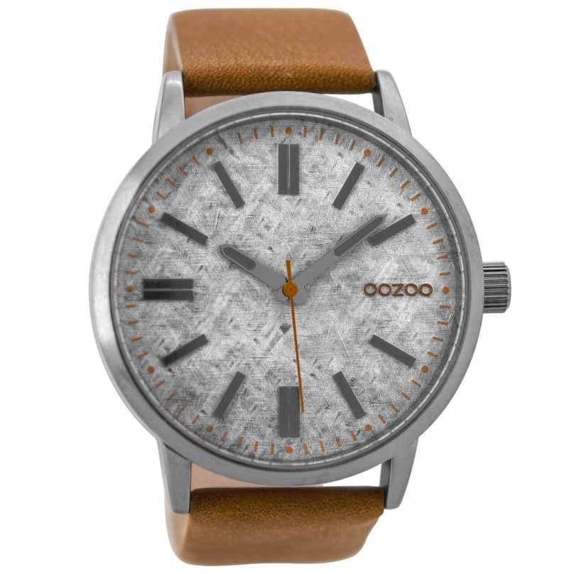 Oozoo C9405 Herrenuhr Braun/Silber 48 mm 8719929000054