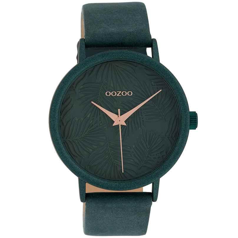 Oozoo C10083 Damenuhr Blätter Jade 42 mm 8719929011043