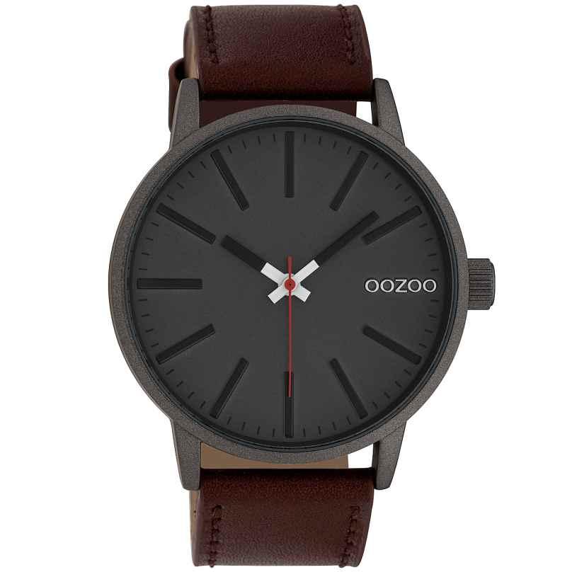 Oozoo C10011 Uhr in Unisex-Größe Anthrazit/Braun 45 mm 8719929010329
