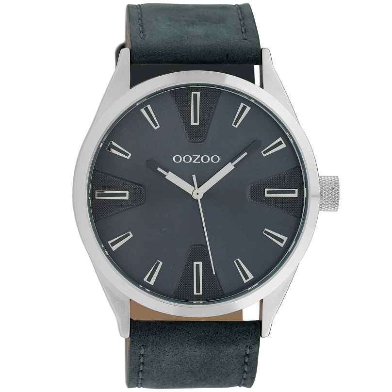 Oozoo C10023 Watch in Unisex Size Blue 45 mm 8719929010442