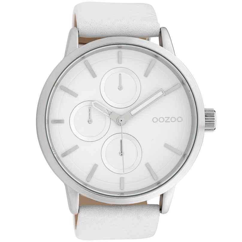 Oozoo C10052 Armbanduhr Weiß 49 mm 8719929010732