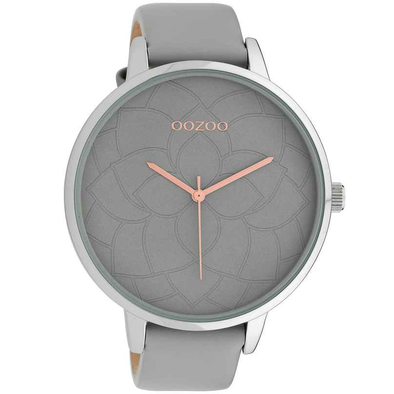 Oozoo C10101 Damen-Armbanduhr Hellgrau 48 mm 8719929011227