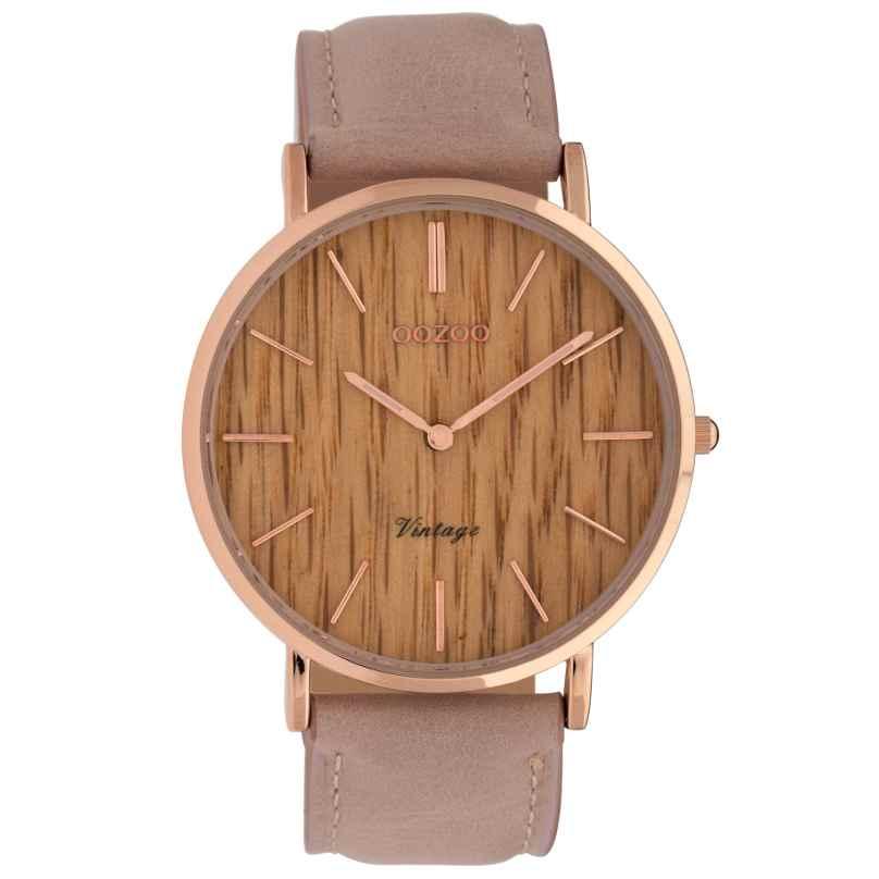 Oozoo C9866 Damenuhr Timepieces Pinkgrau 40 mm 8719929008548