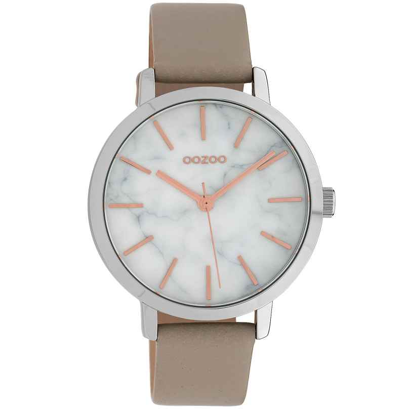 Oozoo C10112 Ladies' Watch with Leather Strap White/Beige 38 mm 8719929011333