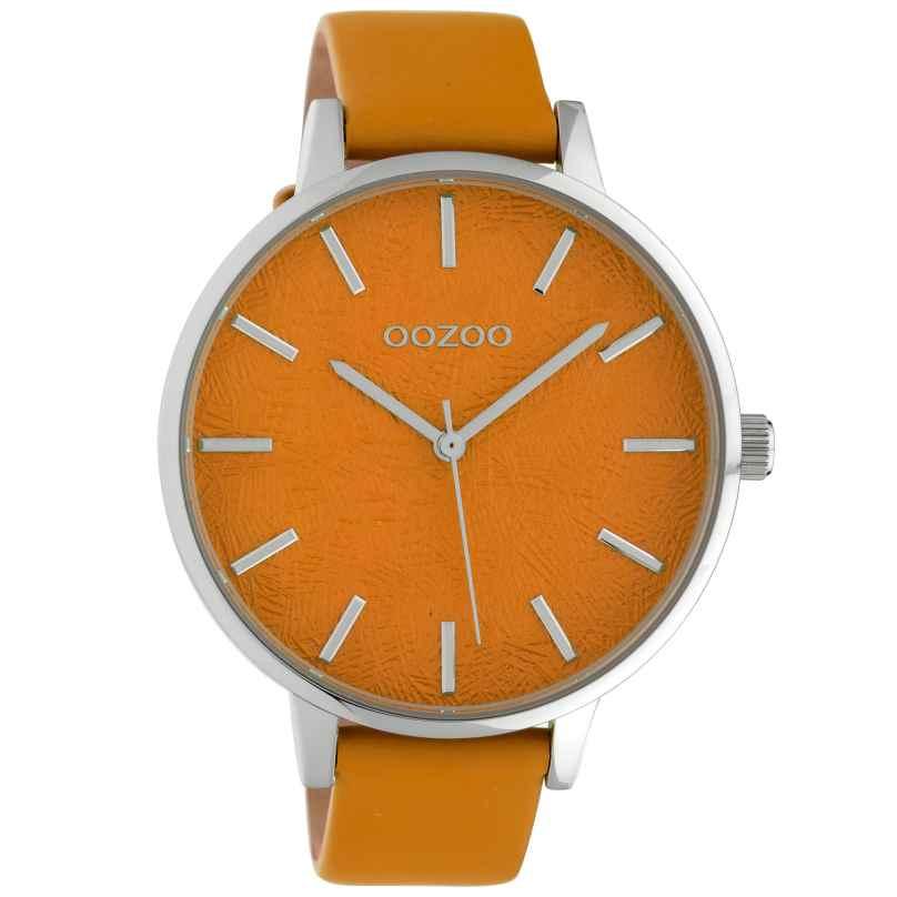 Oozoo C10161 Damenuhr Lederband Orange 45 mm 8719929011821