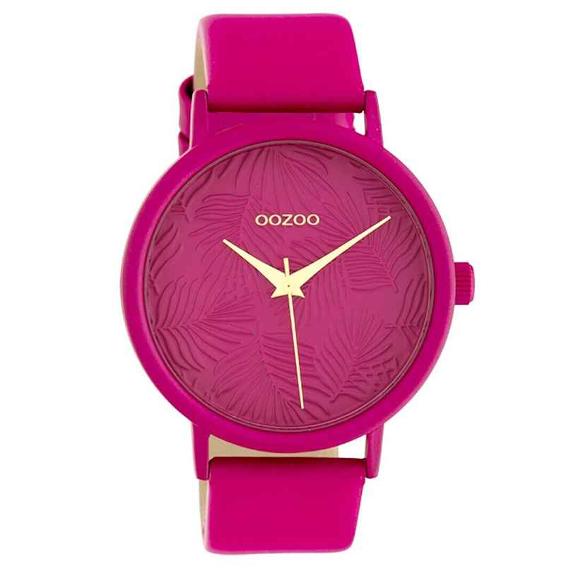 Oozoo C10167 Damenuhr mit Lederband Pink 42 mm 8719929011883