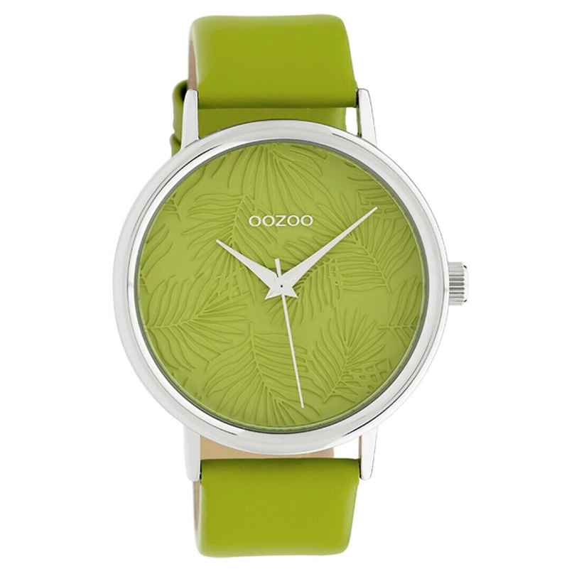 Oozoo C10168 Damen-Armbanduhr Lederband Grün 42 mm 8719929011890