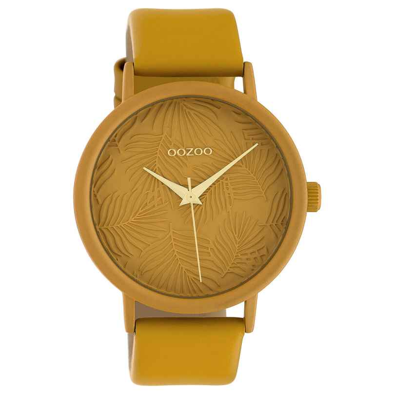 Oozoo C10172 Women's Watch with Leather Strap Mustard Yellow 8719929011937