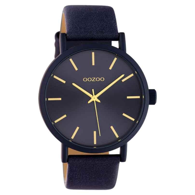 Oozoo C10454 Damenuhr mit Lederband 42 mm Nachtblau 8719929015638