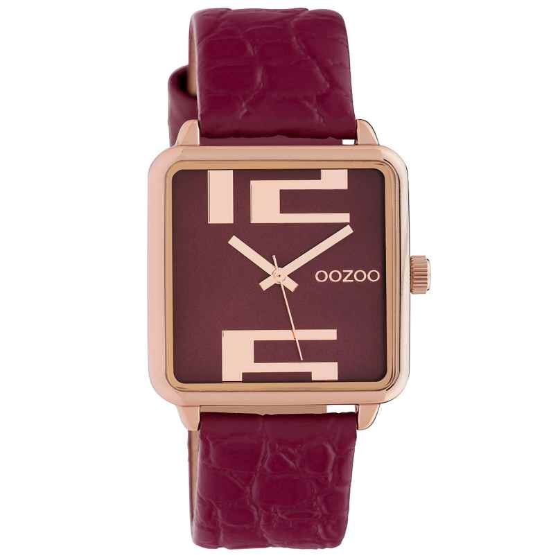 Oozoo C10368 Ladies' Watch with Leather Strap 30 mm Red 8719929014778