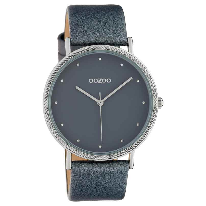 Oozoo C10418 Ladies' Watch Leather Strap Ø 40 mm Grey 8719929015270