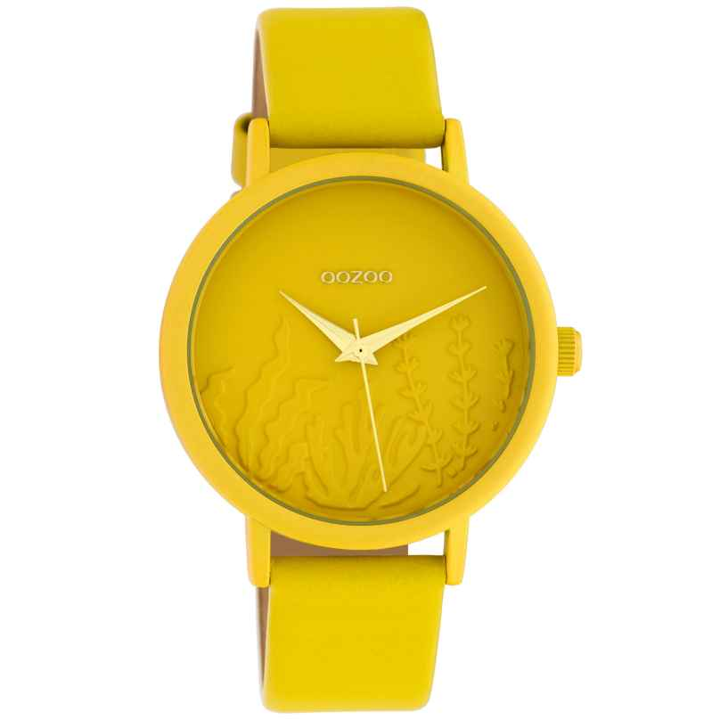 Oozoo C10602 Ladies' Watch with Leather Strap Yellow Summer Vibes Ø 36 mm 8719929018660