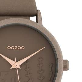 Oozoo C10603 Women's Watch with Leather Strap Taupe Summer Vibes Ø 36 mm