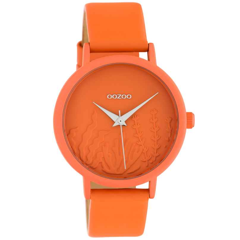 Oozoo C10605 Damen-Armbanduhr mit Lederband Orange Summer Vibes Ø 36 mm 8719929018691