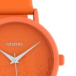 Oozoo C10605 Damen-Armbanduhr mit Lederband Orange Summer Vibes Ø 36 mm